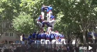 El 3de9f carregat dels Castellers de la Vila de Gràcia, en vídeo