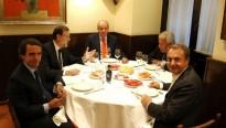 Rajoy i tres expresidents fan un sopar privat amb Joan Carles de Borbó