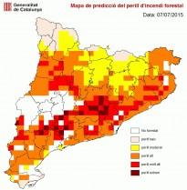 Catalunya, en «altíssim risc» d'incendi