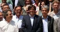 Tots els alcaldes i alcaldesses de la nova executiva de l'Associació de Municipis per la Independència (AMI)