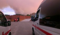 Creu Roja va atendre prop de 600 persones a l'incendi d'Òdena