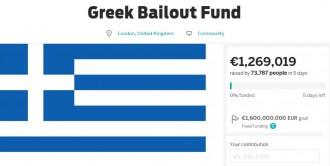 La campanya de «crowdfunding» per salvar Grècia supera el milió