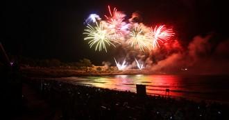 Explota la pirotècnia que va obrir el 25è Concurs de Castells de Foc tarragoní