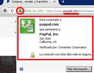 Alerta per estafa en una web de PayPal falsa