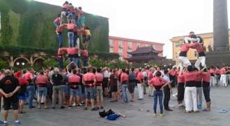 La Colla Vella ja ha fet els seus primers castells a la Xina