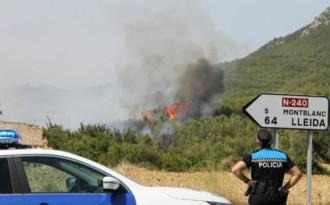 El foc que va cremar entre Lilla i Prenafeta podria haver estat provocat
