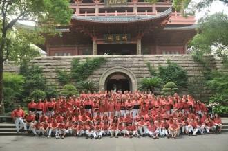 Les primeres imatges de la Colla Vella a la Xina