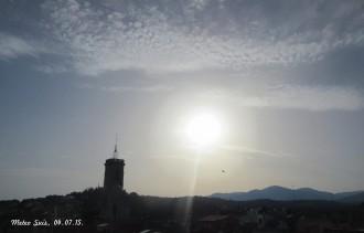 Dissabte amb temperatures rècord a Sant Celoni