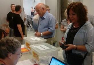 Els socis de l'ANC de Valls a favor d'una llista transversal per al 27-S