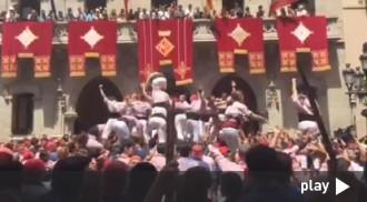La celebració del 5de9f i de la gran actuació dels Minyons