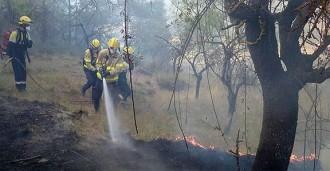 Controlat l'incendi d'Artés, al Bages, després de cremar 4,5 hectàrees