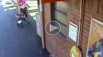 Un avi rescata la seva néta de les vies d'un tren