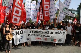 Un miler de treballadors de Catalunya Caixa, contra l'ERO plantejat per BBVA