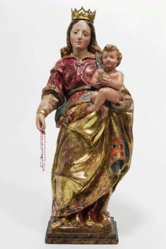 La imatge barroca de la Mare de Déu del Roser retorna a l'església de Sant Ponç, a Prades de la Molsosa
