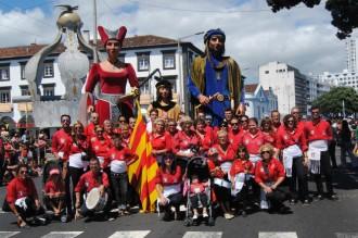 Els Amics dels Gegants de Montblanc porten la cultura catalana a les Açores