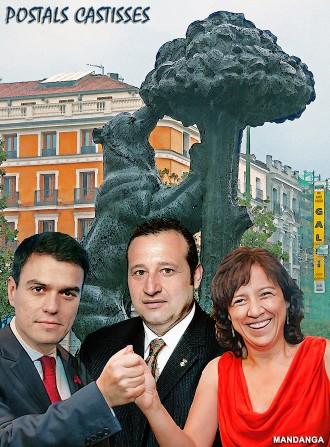 Anna Erra i Benjamí Dòniga visiten Pedro Sánchez a Madrid