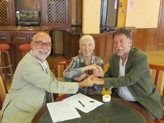 Suport de Jane Goodall al Museu europeu del Bosc de Sant Celoni
