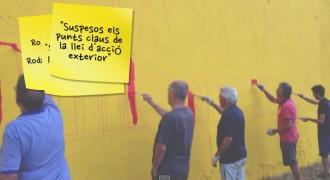 Vídeo del mural del 27-S pintat a Sant Celoni