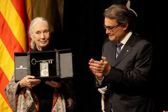 Vés a: La primatòloga Jane Goodall rep el XXVII Premi Internacional Catalunya
