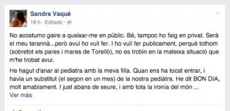 Vés a: Un pediatre d'Osona a una pacient: «Aquí se habla en español. ¿Porque estamos en España, no?»