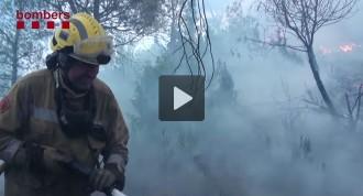 Vés a: VÍDEO Resum de la feina dels Bombers en l'incendi d'Òdena
