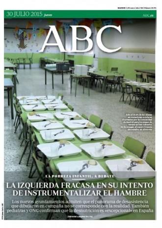 Vés a: «La izquierda fracasa en su intento de instrumentalizar el hambre», a la portada de l'«ABC»