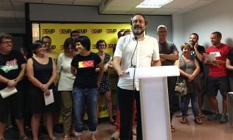 Vés a: La CUP ungeix Antonio Baños: «Ens presentem per buscar-nos problemes amb les lleis espanyoles»