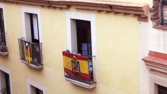 Una bandera franquista a Reus