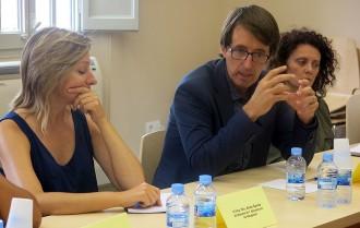 Els alcaldes de l'incendi d'Òdena es reuneixen amb Governació