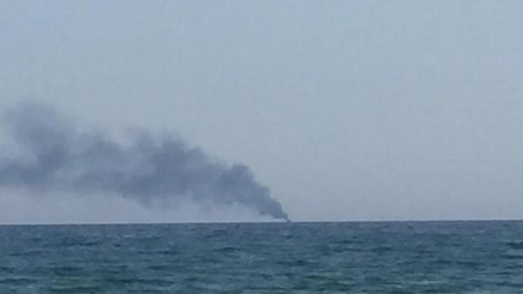 Crema i s'enfonsa una barca recreativa davant de la costa de Torredembarra