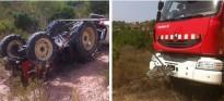 Mor un home de 74 anys en bolcar amb el tractor a Corbera d'Ebre