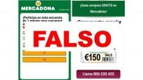 Alerta: frau a WhatsApp que ofereix xecs de 150 euros de Mercadona