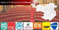 Les llistes definitives de les eleccions del 27-S a la demarcació de Girona