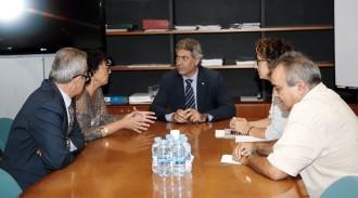El nou conseller d'Agricultura, Jordi Ciuraneta, visita Tremp