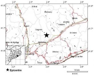 Registrat un terratrèmol de 2,6 graus entre Sant Pere i Sant Antoni de Vilamajor