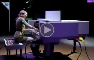Un piano en forma de Nintendo ret homenatge a Super Mario Bros