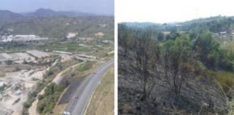 Controlat l'incendi de vegetació a Abrera després de cremar 1,1 hectàrees