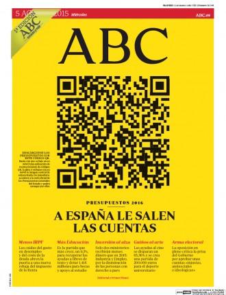 «A España le salen las cuentas», a la portada de l'«ABC»