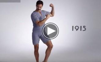 La increïble evolució dels banyadors per a homes en els últims 100 anys