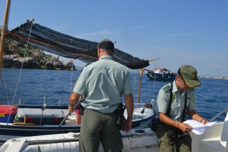 Enxampen un pescador furtiu amb quatre quilos de peix a les Illes Medes