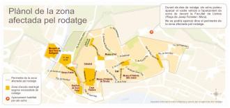 Mapa de les zones de Girona on es rodarà «Joc de Trons»