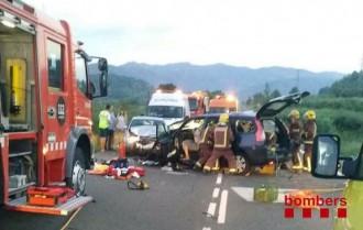 Dotze ferits en tres accidents, de matinada a Garcia i Rasquera i a mig matí a l'Ametlla de Mar