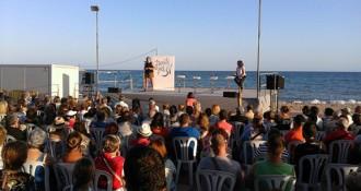 L'acte de campanya de Junts pel Sí omple el passeig de les Palmeres
