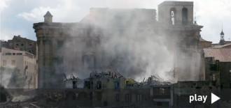 L'estat de demolició de les cases de la catedral de Tortosa, en un vídeo espectacular