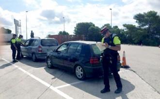 Control policial especial a l'AP-7, a l'Aldea, en el dispositiu 'Pas de l'Estret'