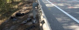 Mor un joanenc de 48 anys en un xoc entre un ciclomotor i un cotxe a la C-55