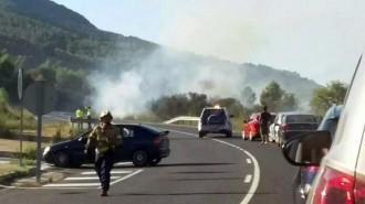 Tallen la C-14 a Vilaverd per un incendi