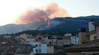 Extingit l'incendi forestal entre Cornudella i la Morera