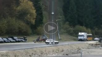 Un experiment mostra com queda un cotxe després de xocar a 200 km/h