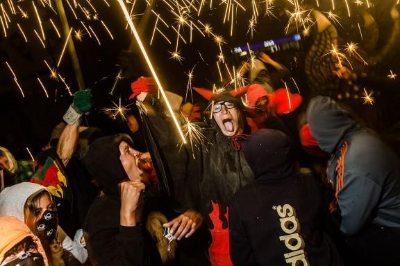 Correfoc de la festa major de Seva